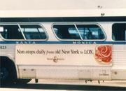 Noah's Bagels bus poster